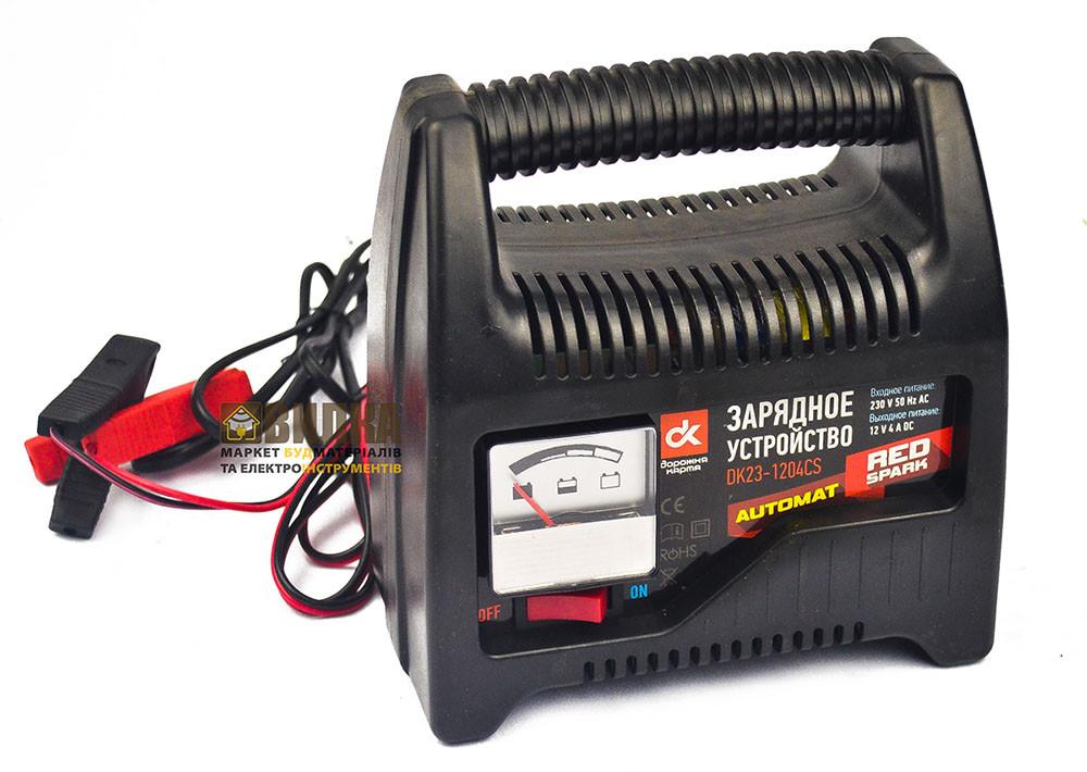 Зарядное устройство 4A 12V, аналоговый индикатор зарядки, Дорожная Карта DK23-1204CS