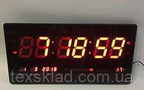Настінні електронні годинники Led Clock 4622 (46х22см/Руське меню)