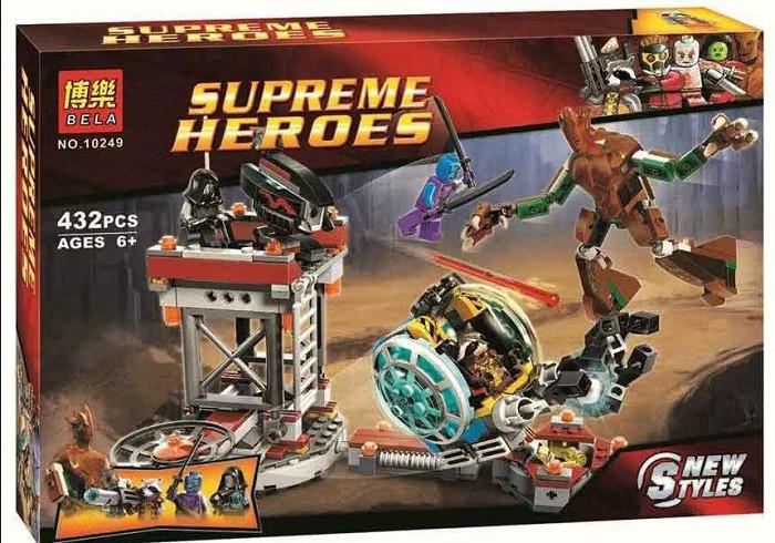 Конструктор Bela 10249 Супергерои Стражи Галактики, 432 деталей
