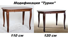 Стол обеденный Турин орех темный 120 см (Микс-Мебель ТМ), фото 3