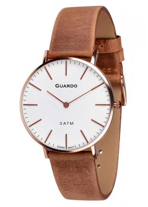 Чоловічі наручні годинники Guardo P11014 RgWBr