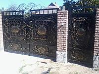 """Ворота кованые с калиткой. Установка, гарантия. Выкрашены краской высокого качества """"Alpina"""""""