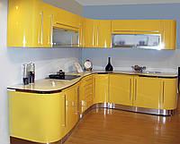 Кухня крашенный мдф Yellow