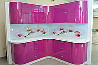 Кухня крашенный мдф Pink