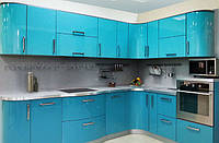 Кухня крашенный мдф LiteBlue