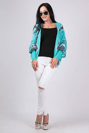 Легкая вязаная кофта, вязаный пиджак 42-46 коттон, фото 2