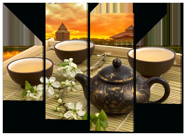 Модульная картина на кухню Чай