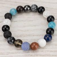 💖 Браслет из натурального разных камней (10 мм) на резинке (Есть все размеры!*)