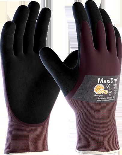 Перчатки для автомехаников от масел и жидкостей MaxiDry® 56-425