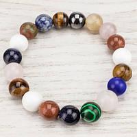 💖 Браслет из натуральной разных камней (10 мм) на резинке (Есть все размеры!*)