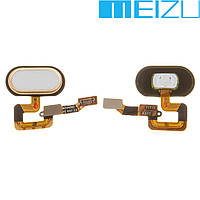Шлейф для Meizu M3 Max, кнопки меню, золотистый, оригинал