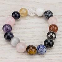 💖 Браслет из натурального разных камней (12 мм) на резинке (Есть все размеры!*)
