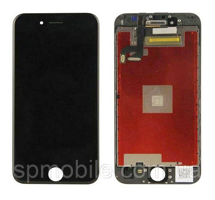Дисплей iPhone 6S, черный, с рамкой, с сенсорным экраном, high-copy