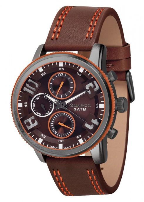 Мужские наручные часы Guardo P11097 GrBrBr