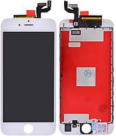 Дисплей iPhone 6S, белый, с рамкой, с сенсорным экраном, high-copy