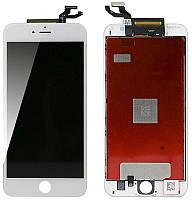 Дисплей iPhone 6S Plus, белый, с рамкой, с сенсорным экраном, Original