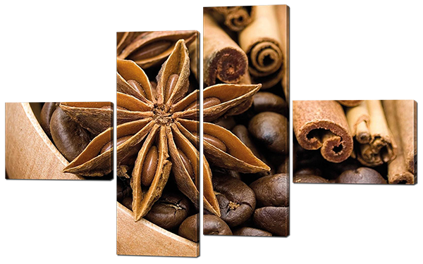 Модульная картина  Кофе и корица