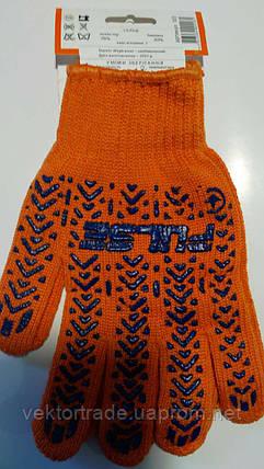 Перчатка первомайская с ПВХ точкой 103 (оранж.) , фото 2