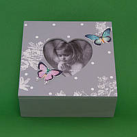 Шкатулка с фоторамкой Сердце и бабочки