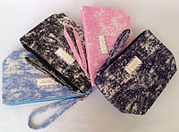 Женские текстильные косметички на молнии 21*12 см