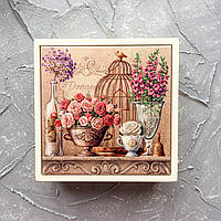 Шкатулка из натурального дерева и керамики. Сувенир. Подарки. Для колец, украшений, специй, чая, ключей.