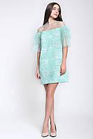 Красивое коктейльное платье из вышитой сетки