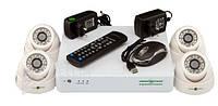 Комплект видеонаблюдения Green Vision GV-K-S12/04 1080P, AHD/TVI/CVI/IP/ 960H 4 канальный, 1920х1080, 1/3'' CMOS SmartSens, Мр 2.0, система