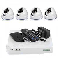 Комплект видеонаблюдения Green Vision AHD GV-K-L09/04 1080P, 4 канальный, система видеонаблюдения