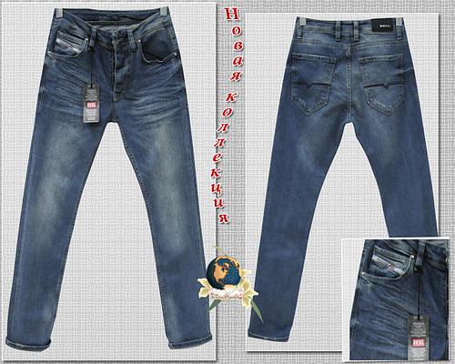 Зауженные к низу мужские джинсы Diesel оригинального синего цвета 32 размер