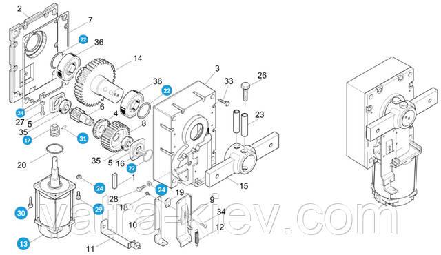 мотор шлагбаума Came gard 119rig047 купить цена
