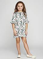Платье для девочки с белыми цветочками, фото 1