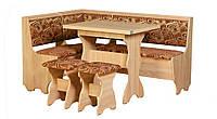Кухонный уголок Атаман с простым столом,с раскладным столом и двумя табуретами, без стола и табуретов