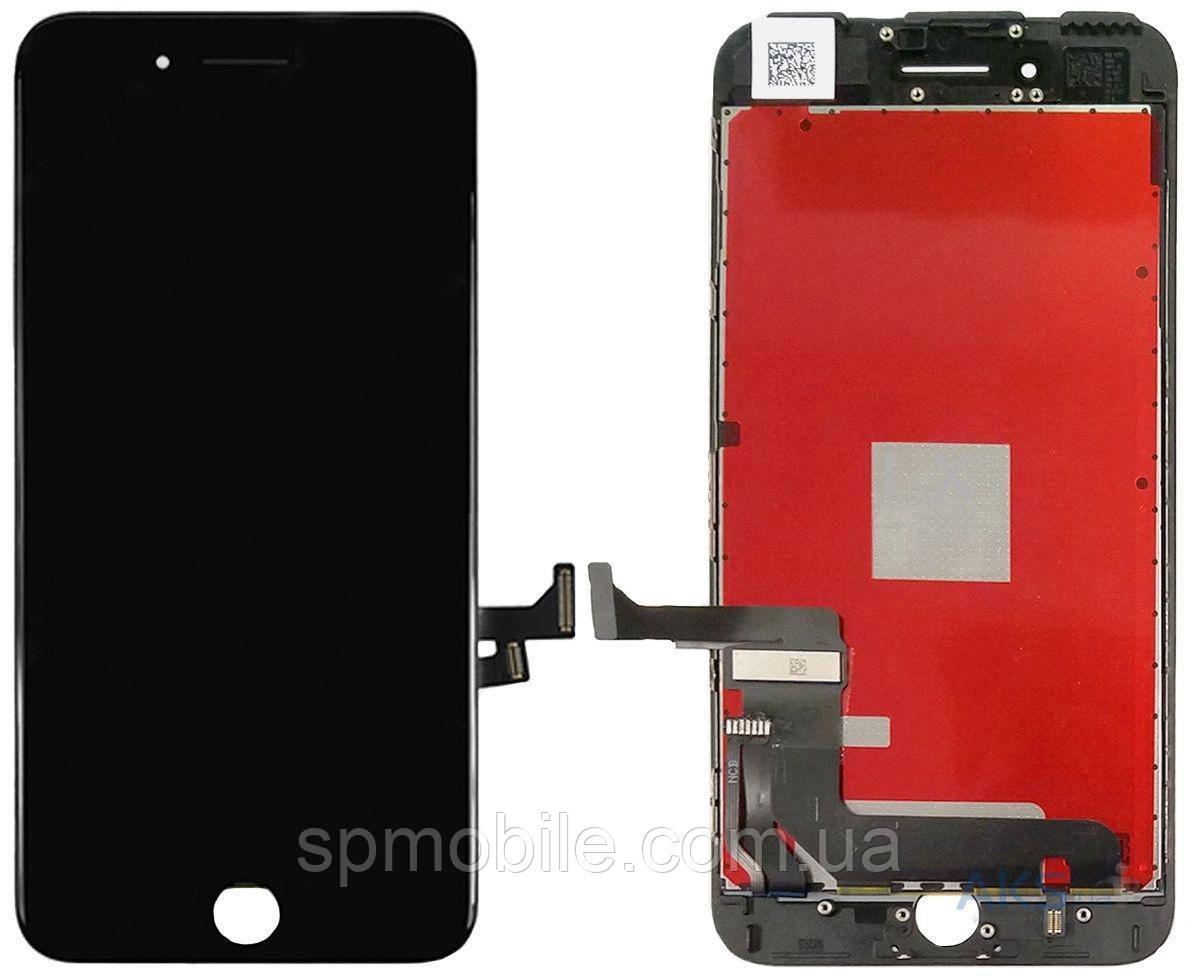 Дисплей iPhone 7 Plus, чорний, з рамкою, з сенсорним екраном, high-copy
