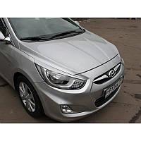 Реснички на фары Hyundai Accent (2011 -)