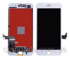 Дисплей iPhone 7 Plus, белый, с рамкой, с сенсорным экраном, Original