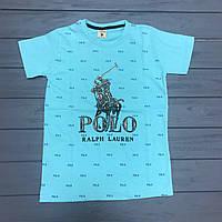 Футболка бренд  POLO для мальчиков-подростков оптом р.9-12 лет