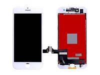 Дисплей iPhone 7, білий, з рамкою, з сенсорним екраном, Original