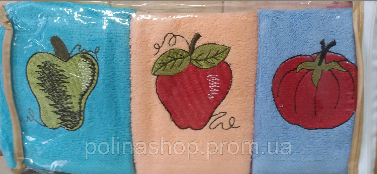 Кухонный набор полотенец BEAUTIFUL ROSE махра (6 шт.) 30х50