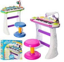 Детский орган пианино со стульчиком и микрофоном Joy Toy  «Я музыкант» 7235