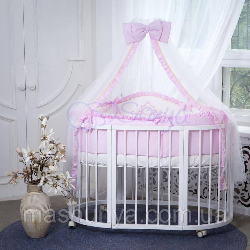 Детский постельный набор в овальную кроватку Маленькая Соня Mon Amie 6 и 7 элементов