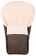 Конверт зимний детский Womar (Zaffiro) на выписку из роддома, для прогулок в коляске, санках с вышивкой 7 хаки
