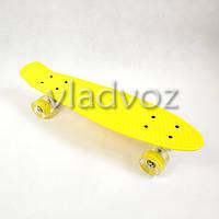 Детский скейт скейтборд пенни желтый с Led Profi MS