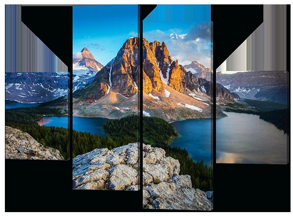 Модульная картина Национальный парк Банф в Канаде(горы,озеро)