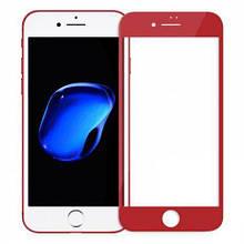 Защитное стекло 4D для телефона iPhone 6 / 6s - красный