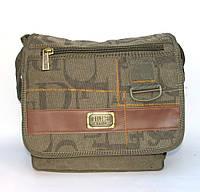 Мужская брезентовая сумка Gold Be оливковая