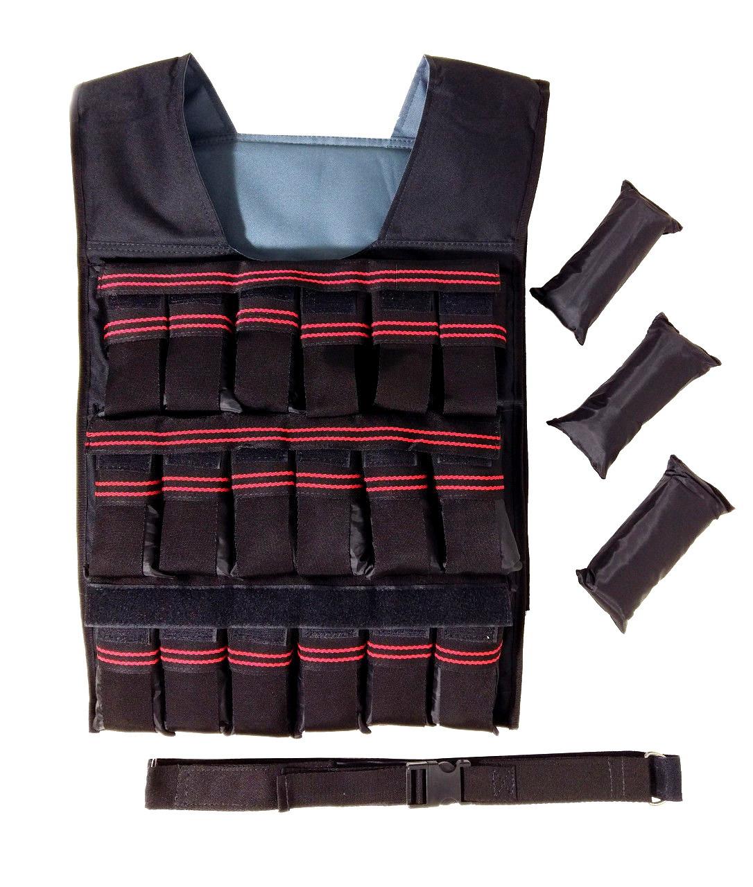Утяжелительный жилет с регулируемым весом 18 кг, наборной (Жилет утяжелитель)