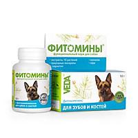 Фитомины с фитокомплексом для зубов и костей для собак, 100таб., (Веда)