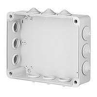 INDUSTRIAL Box коробка накладна 305x244x126 з 12 гумовими вводами, сіра RAL 7035, IP 55