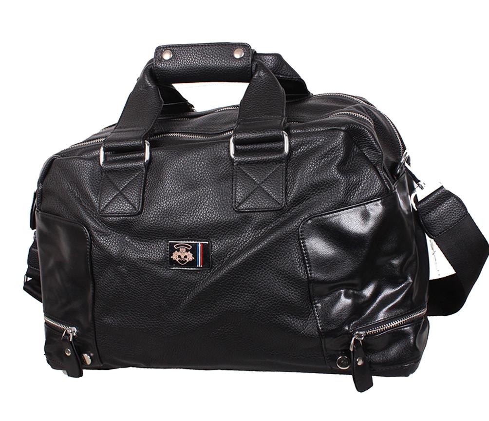 Дорожная сумка из искусственной кожи 30415 черная