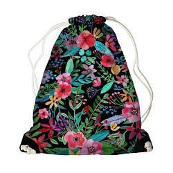 Детский рюкзак мешок с принтом Цветы